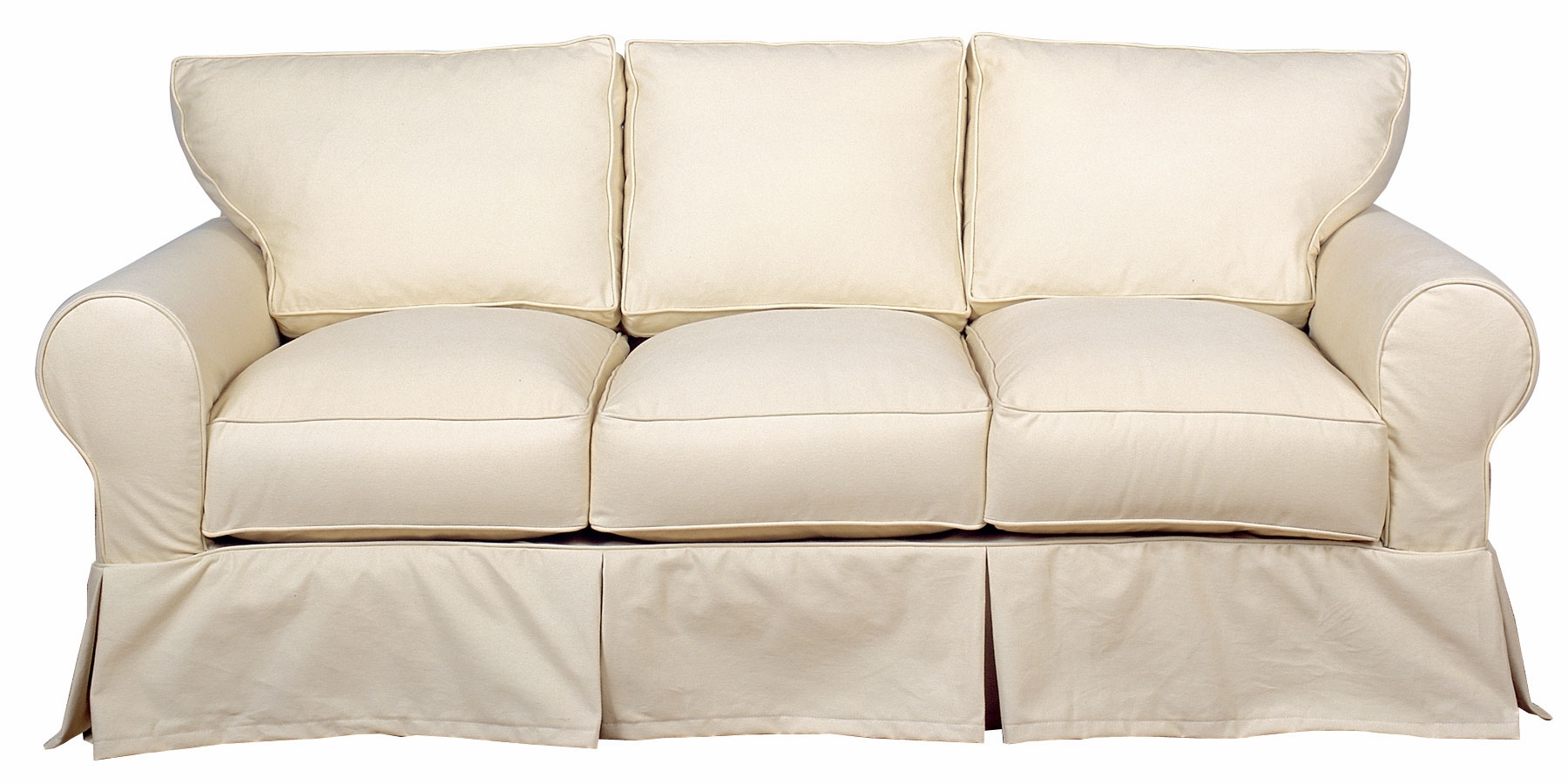three cushion sofa bench sectional dilworth slipcovered