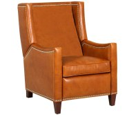 Heywood Wing Back Leather Recliner With Nailhead Trim ...