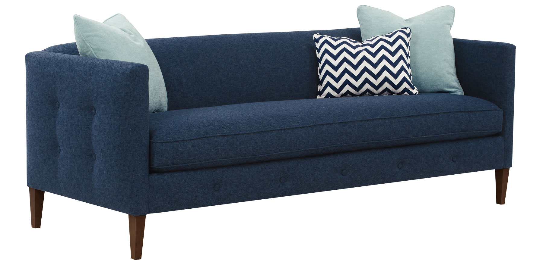 Bench Seat Button Tufted Exterior Fabric Sofa Group Club