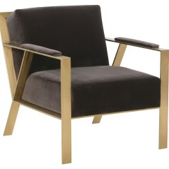 Modern Metal Chairs Aluminum Outdoor Fabric Accent Chair With Gold Frame Club