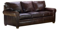 Classic Leather Sofa Set With Traditional Rolled Arms ...