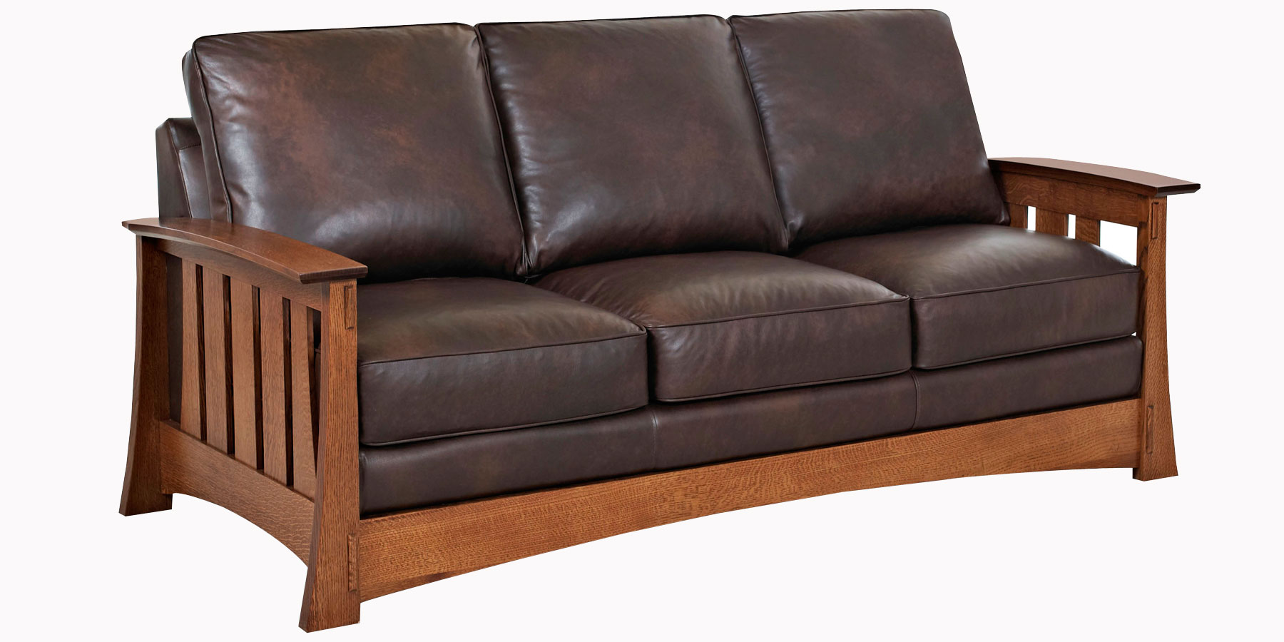 Leather Sofa Chair Mission Style Leather Pillow Back Chairs And Sofas