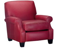 Red Leather Recliner Chair | Club Furniture