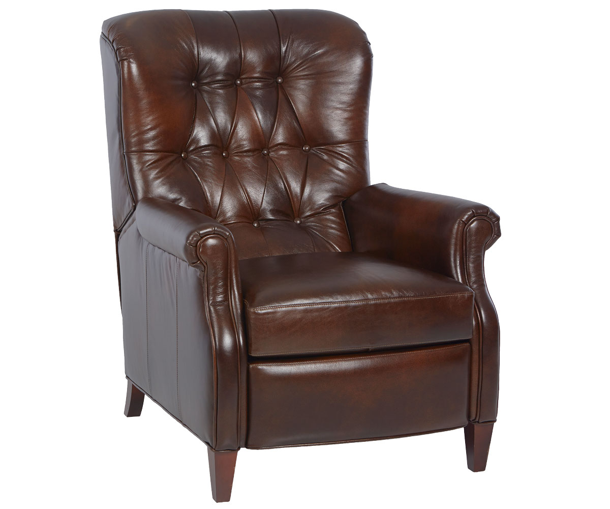 Narrow Chair Wentworth Narrow Tufted Leather Recliner Leather Recliners