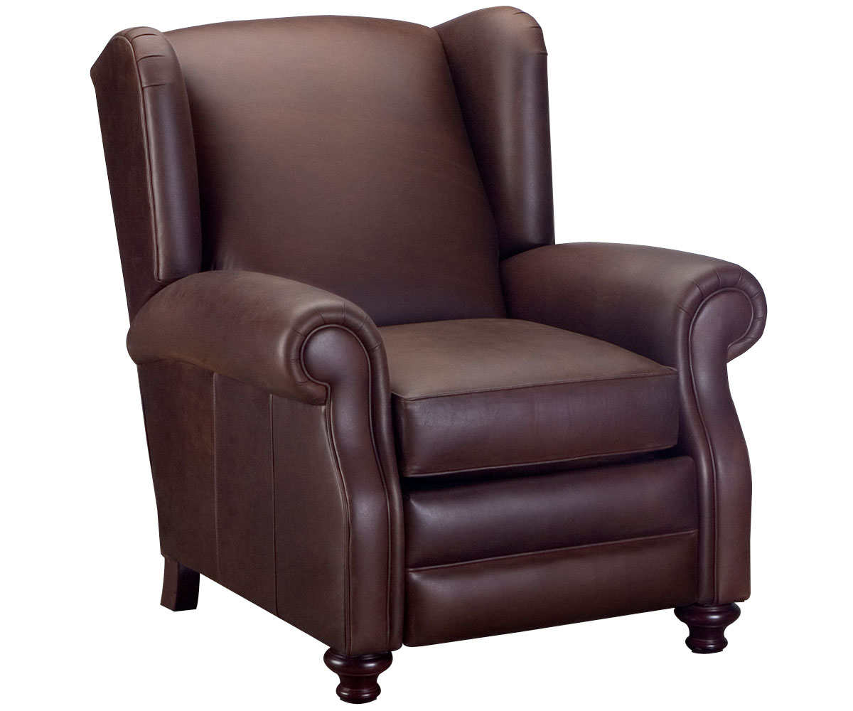 Wingback Leather Recliner Chair  Club Furniture