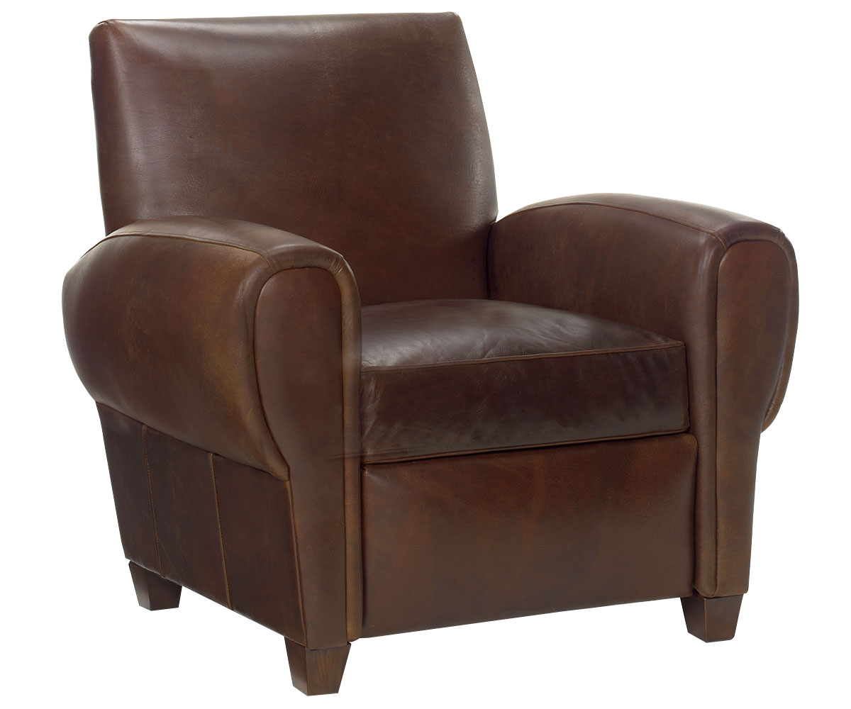recliner club chair upholstered arm dining reclining in leather furniture