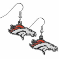 Denver Broncos Chrome Dangle Earrings (F)