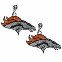 Denver Broncos Crystal Stud Earrings (F)