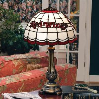 Detroit Red Wings Stained Glass Table Lamp