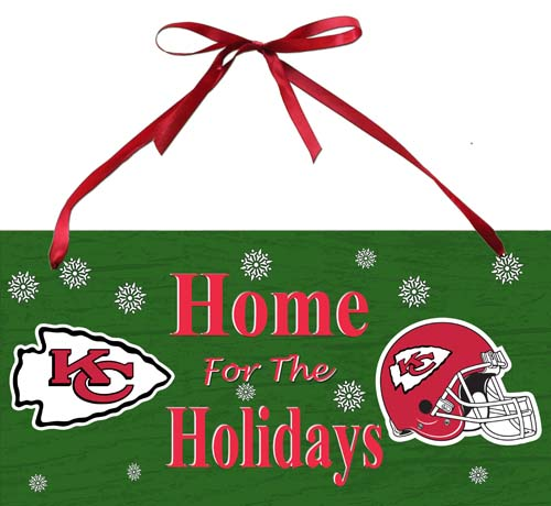 Kansas City Chiefs Holiday Sign 1