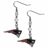 New England Patriots Crystal Dangle Earrings (F)