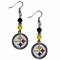 Pittsburgh Steelers Bead Dangle Earrings (F)