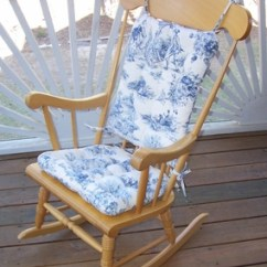 Chair Cushions With Ties French Country Dining Table Covers Toile - Rocking Standard Size Sold Outng Out