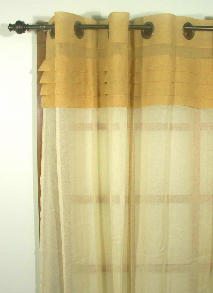 Geneva Semi Sheer Grommet Curtain Panels