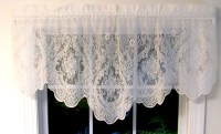 Vanessa Lace M Valance White or Ivory - TheCurtainShop