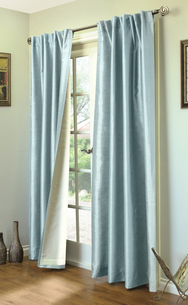 Ming Lined Thermasilk  Two Ways to Hang Curtain Panels Pair