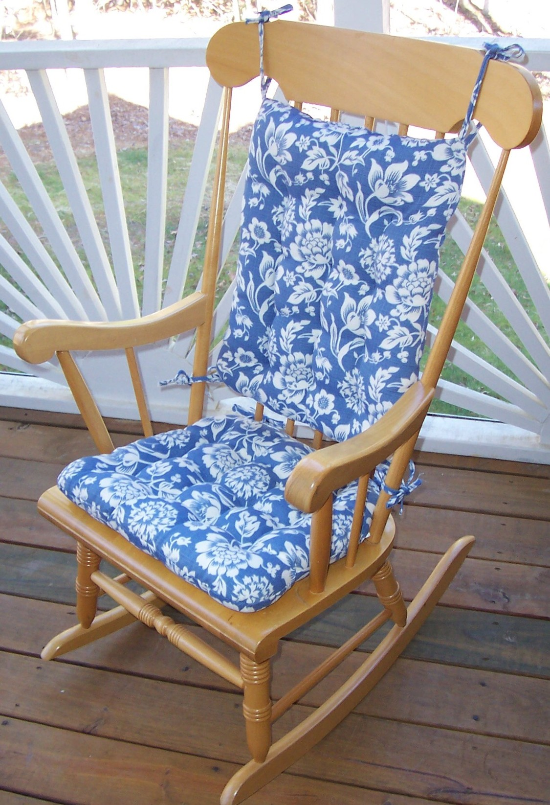 indoor rocking chair cushion sets toddler dining pads solid teal outdoor