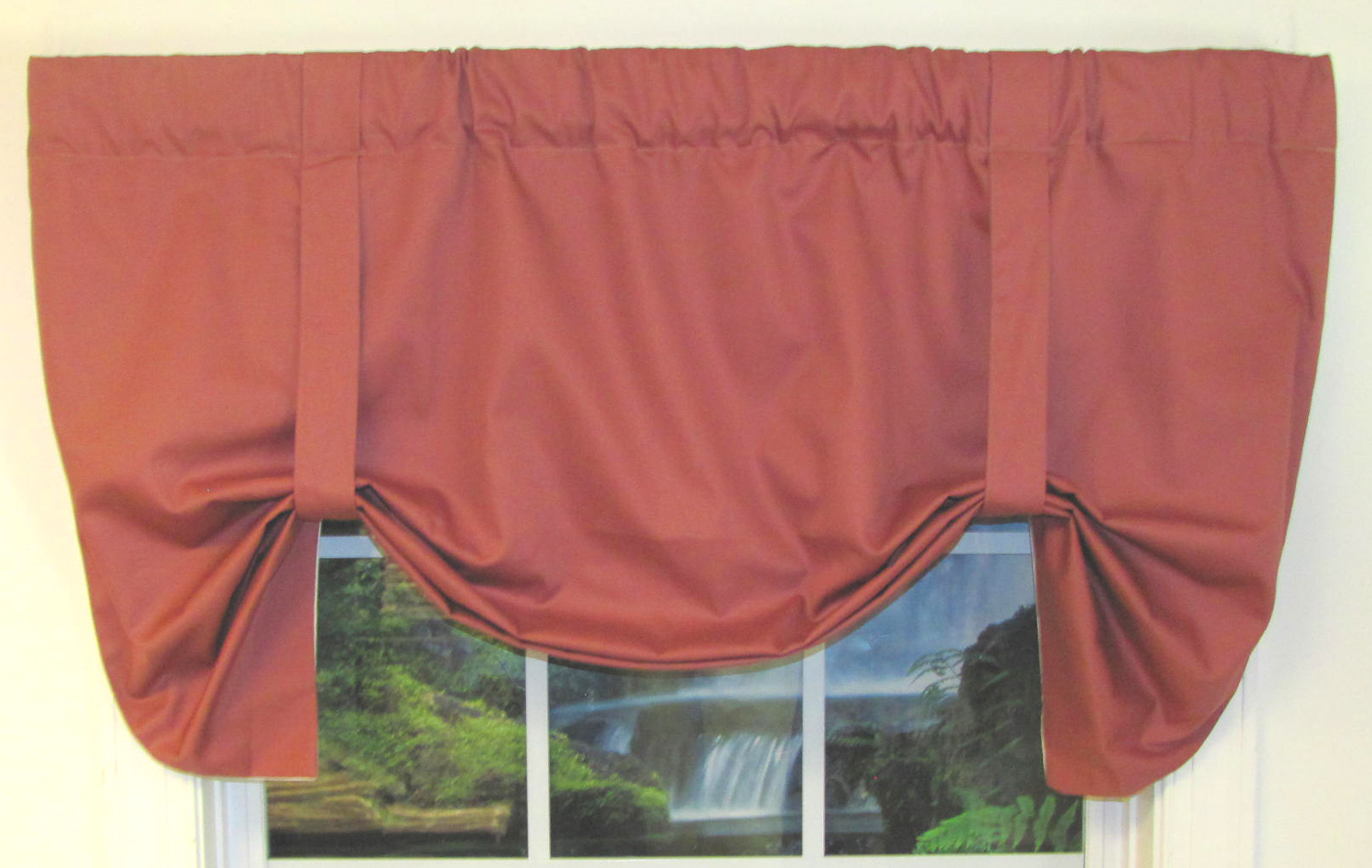 Tie Up Valances Solid Colored Patterned Prints