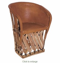 Equipale Barrel Chair - Mexican Furniture