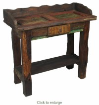 Rustic Vanity Table. Rustic Design. Copper Collection ...