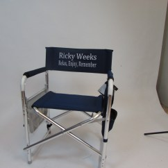 Customized Directors Chair Desk Dwg Imprinted Personalized Sports With Side