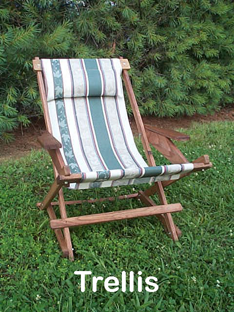 Pine Folding Rocking Chair Replacement Sling With 5 Loops