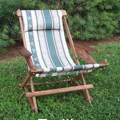 Canvas Sling Chair Gold Satin Covers Pine Folding Rocking Replacement With 5