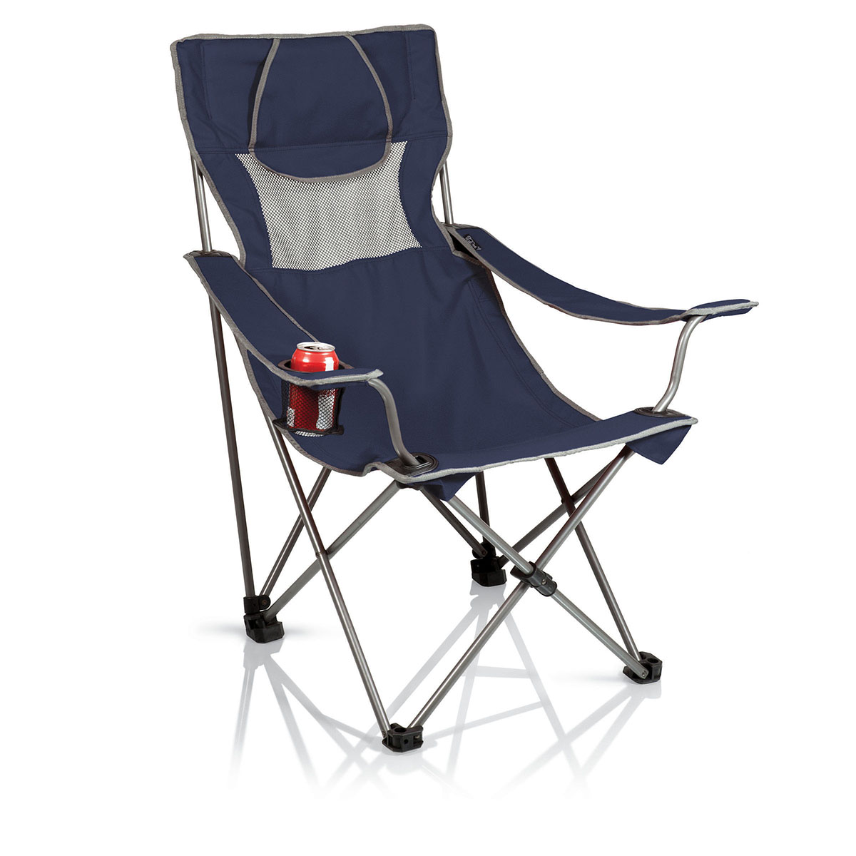 picnic time chairs wheelchair joystick the campsite chair by standard height quad