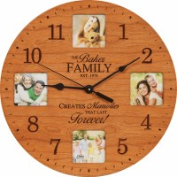 Lasting Memories Personalized Photo Wall Clock - Picture ...