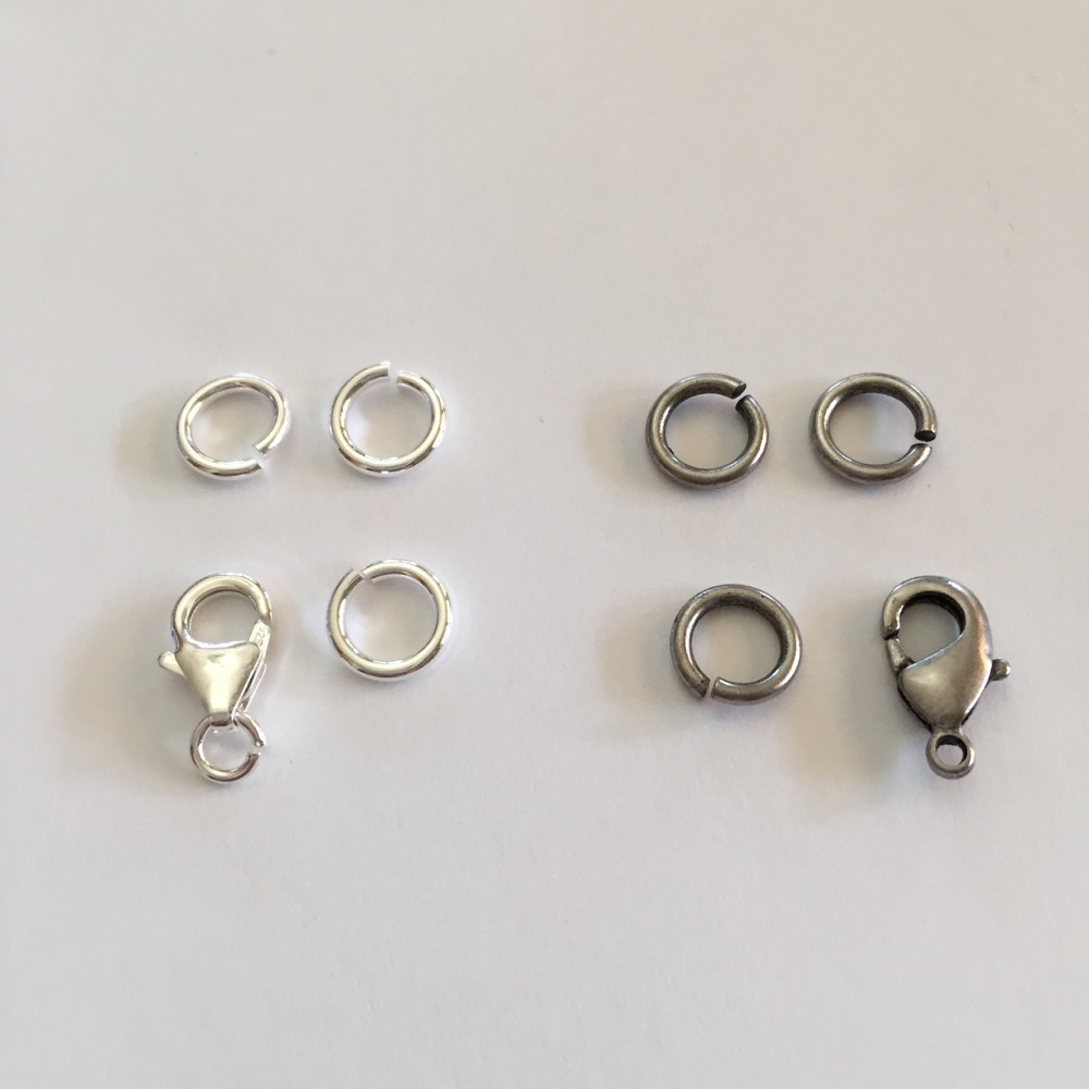 Snapeez Jump Rings Oxidized Silver