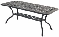 DL30-B Darlee 21 x 42 inch Coffee Patio Table in Cast ...