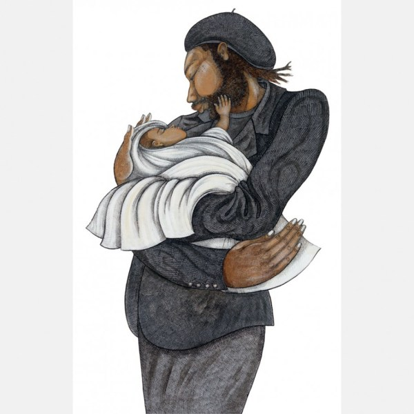 """Charles Bibbs Hand Signed And Numbered Limited Edition """"black Love"""""""