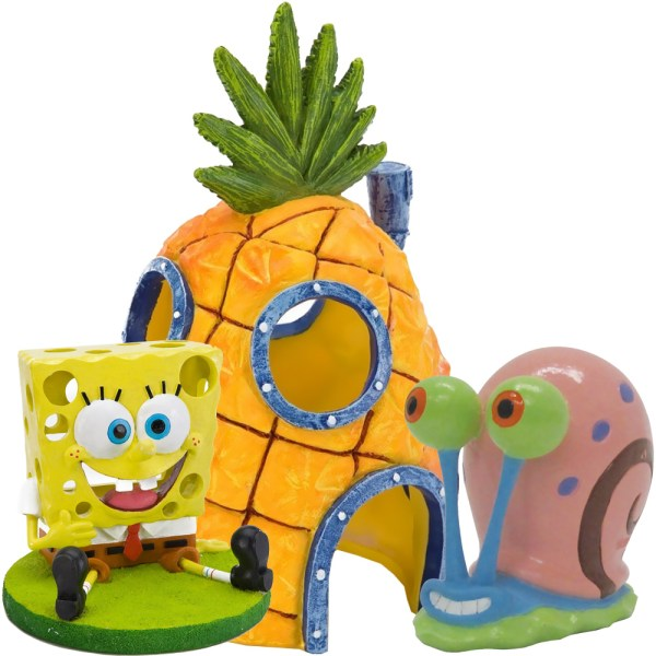 Spongebob Aquarium Ornament Set