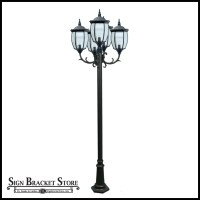French Quarter Lamp Post, Decorative Pole Light