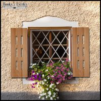 Wood Exterior Shutters   Made in USA   Hooks & Lattice