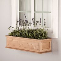 Raised Panel Cedar Framed Window Boxes - Hooks & Lattice