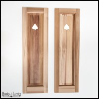 Cedar One Panel Design - 18in. Wide with Cut-Out Design ...