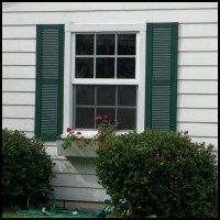 Vinyl Louvered Shutters - Exterior, Decorative | Hooks and ...