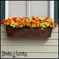 Metal & Plastic Window Box Liners - Outdoor Planter Box ...