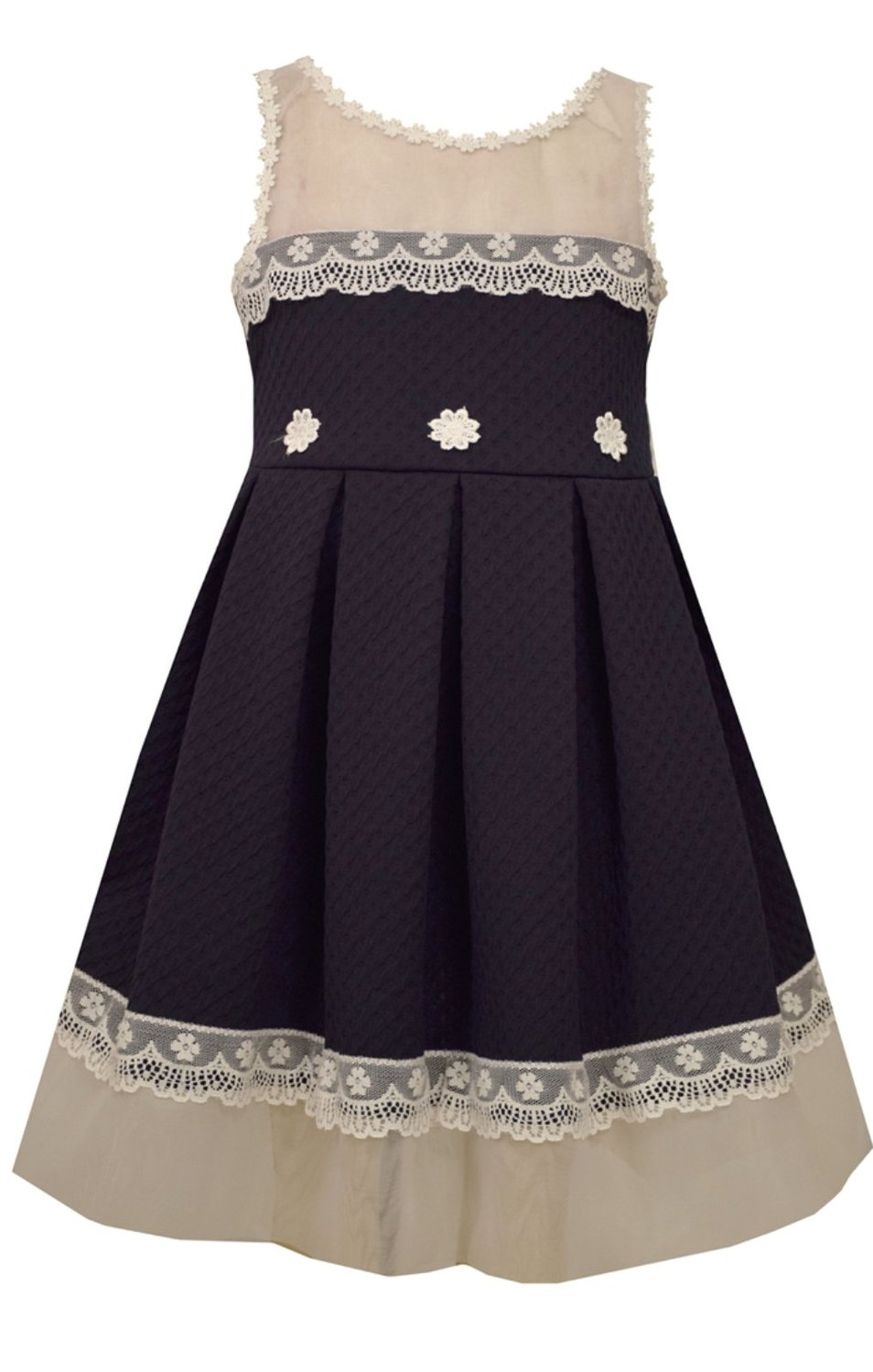 Bonnie Jean Girls Knit To Lace Trimmed Lace Special