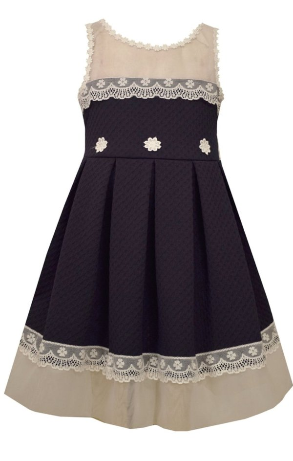 Bonnie Jean Girls' Knit Lace Trimmed Special