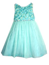 Rare Editions Little Girls Turquoise Embellished Flower ...