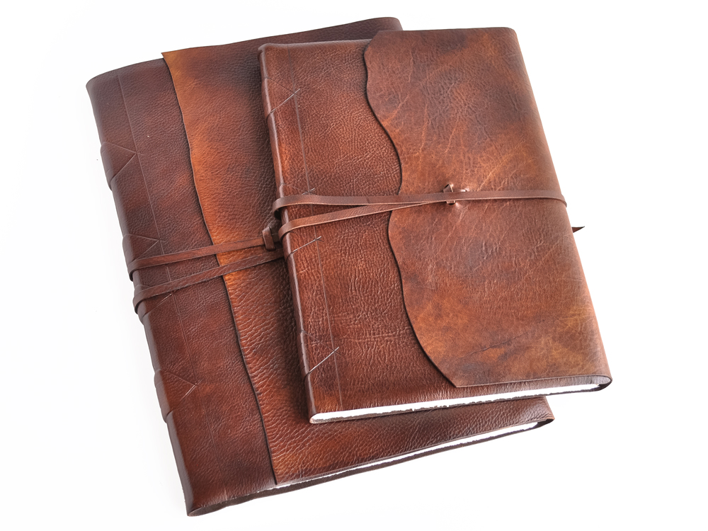Luxury Oldworld Leather Wrap Sketchbook With Amalfi Paper