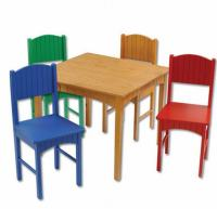 KIDKRAFT Nantucket Table & 4 Primary Chairs