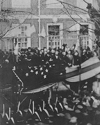 Abraham Lincoln Raising Flag At Independence Hall Photo