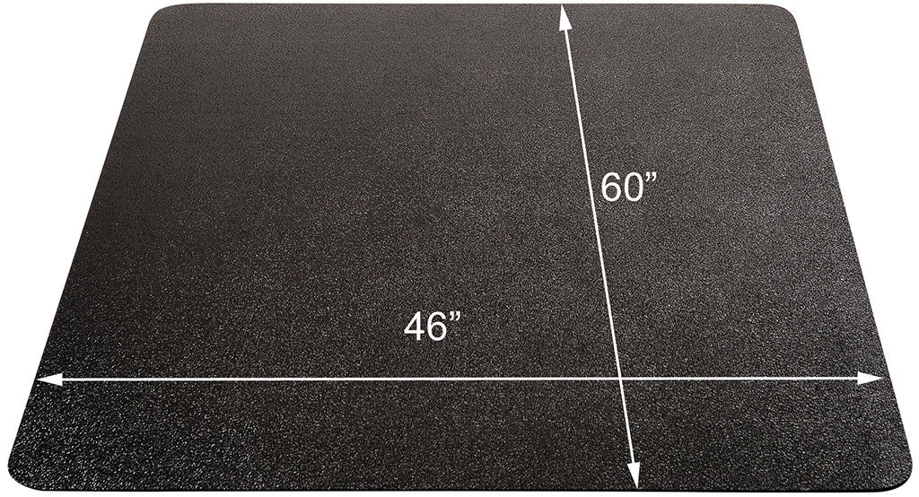 office chair mat 45 x 53 kitchen seat covers black mats for medium pile carpets - 36