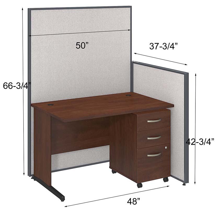 ProPanel Complete Cubicle Packages  48W Cubicle w Desk