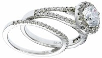 Engagement Rings On Sale! White Gold set with Diamonds