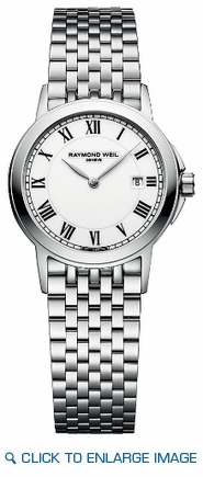 5966-ST-00300 Raymond Weil Tradition Ladies White Dial