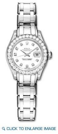 80299 Rolex Datejust Pearlmaster Diamond Dial Ladies